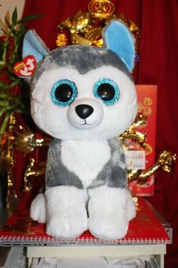 "TY BEANIE BOOS JUMBO SLUSH THE 16"" HUSKY DOG.2016 RELEASE.MW"