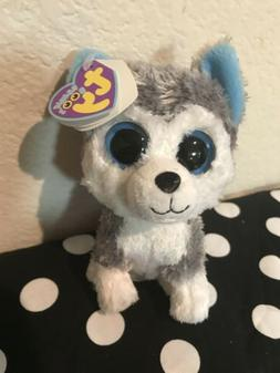 TY Beanie Boos Slush Dog Husky Soft Plush Toy 6 Inch Cute Gi