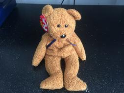 Ty Beanie Baby Fuzz the Bear - Mint
