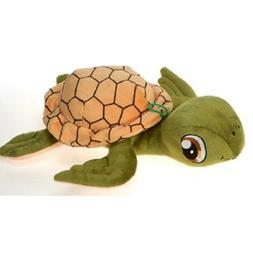 "Fiesta Big Eyes Green Turtle 12"" Inch My Plush Zoo Pet Pillo"