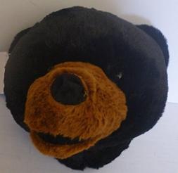 Wall Mountable Bear Head - Plush Black Bear Stuffed Animal -