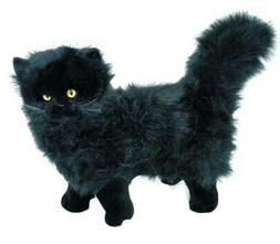 black cat kitten standing soft plush toy