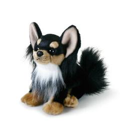 DEMDACO Black Long-Haired Chihuahua Children's Plush Beanbag
