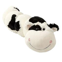 "Pillow Pets Black/White Squiggly Cow Bodypillar - 30"" Cuddly"