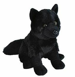 black wolf plush toy 10 5 h