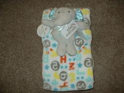Baby Starters Blanket Plush Gray Elephant Friend Rattle Toy