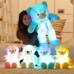 BOOKFONG  Light Up LED Teddy Bear Stuffed Animals Plush Toy
