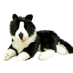 "Border Collie Dog soft plush toy lying Starsky 14""/36cm by B"