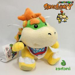 Bowser Jr. Super Mario Bros Koopa Jr Plush Toy Stuffed Anima