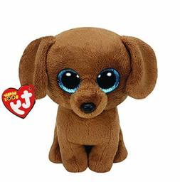"""Brown Dog 6"""" Ty Beanie Boos Puppy Glitter Big Eyes Plush Stu"""