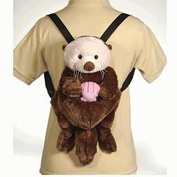"Fiesta Toys Travel Buddy 16"" Sea Otter Plush Backpack"