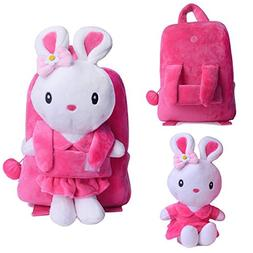 Gloveleya Bunny Rabbit Plush Kid's Backpack Shoulder Bags 8'