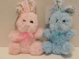 Bunny Rabbit Plush Stuffed Animals FOUR Mini Plushies
