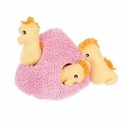 ZippyPaws Burrow Seahorse 'n Coral - Squeaky Plush Hide and