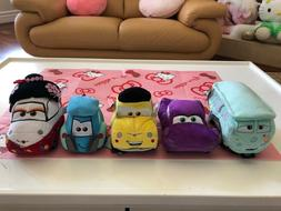 Disney Pixar Cars 5 Plush Toy Lot Set Luigi Guido Holley Etc