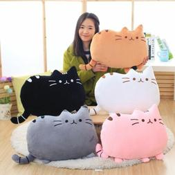 Cat Shaped Pillow Cushion Soft Plush Toy Doll Home Sofa Deco