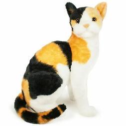 Catalina the Calico Cat | 13.5 inch stuffed animal plush | b