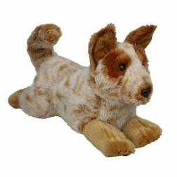 """Cattle Dog Red Heeler dog soft plush toy 11""""/28cm Flame Red"""