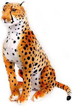 VIAHART Cecil The Cheetah | 2 1/2 ft Tall Big Stuffed Animal