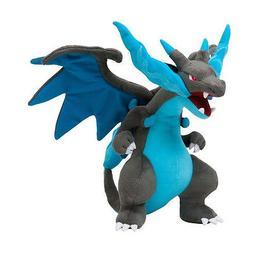 "Pokemon Center Mega Charizard X Character Stuffed Plush 12"""
