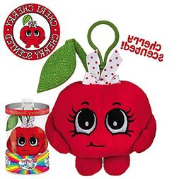 Whiffer Sniffers Cheri Cherry Scented Plush Backpack Clip