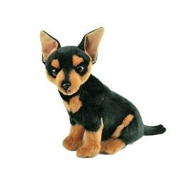 "Chihuahua Dog sitting soft plush toy - Taco 11""/28cm long BO"