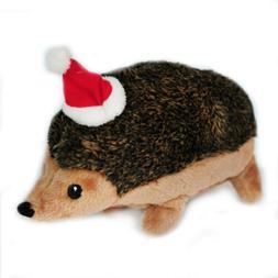 ZippyPaws Christmas Hedgehog Large Squeaky Plush Dog Toy Zip