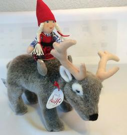 "Demdaco Christmas ""The Reindeer Wish & Anja"" Plush Toy-Compl"