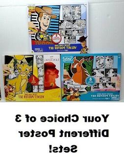 COLOR YOUR OWN VELVET POSTER SET ARTS CRAFTS FUN TOY STORY 4