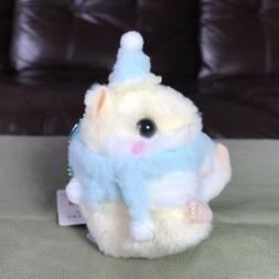 AMUSE - Cream Hamster Hat Scarf Plush Toy Ball Chain Small N