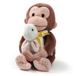 "GUND Curious George with Bunny Stuffed Animal Plush, 10"""