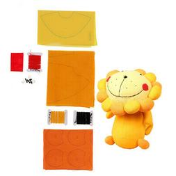 Cute Lion DIY Plush Stuffed Toy Making Kit Sewing Craft for