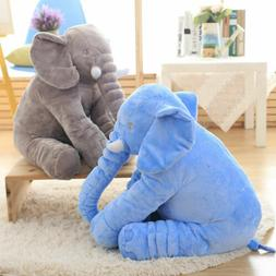Cute Long Nose Elephant Sleep Pillow Baby Toy Lumbar Cushion