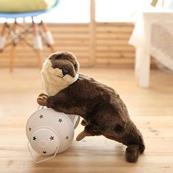 XuBa 40cm Cute Otter Plush Toys 2017 New Artificial Otter Cl