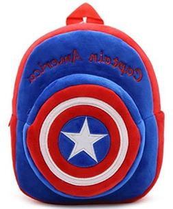 New Cute Plush Captain America Mini Backpack for young Stude