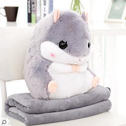 ChezMax Cute Plush Decorative Throw Pillow Blanket Set Home