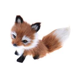 Cute Simulation Fox Plush Toy Imitation Furs Yellow Fox Doll