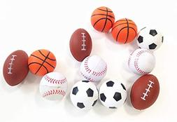 dazzling toys Mini Sports Balls Set of 12 Sports Balls for K