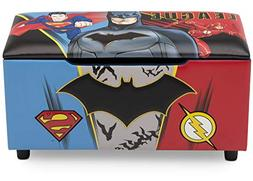DC Comics Justice League Upholstered Storage Bench for Kids