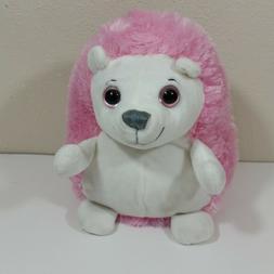 Demdaco Nat & Jules Hedgehog 8 inch Plush Pink White Stuffed
