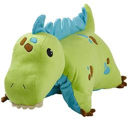 "Pillow Pets Dinosaur, Green Dinosaur, 18"" Stuffed Animal Plu"