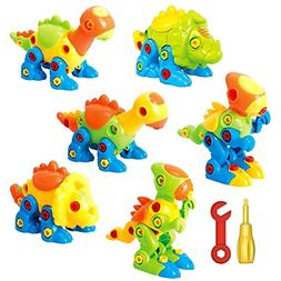 Dinosaur Toys Take Apart Toys With Tools  - Pack of 6 Dinosa