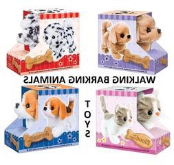 Dog Cat Beagle Plush Stuffed Animal Barking Walking Wagging
