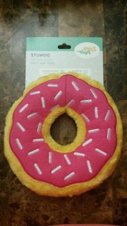 ZippyPaws Donutz Squeaky Plush Dog Toy - Strawberry  *FREE S