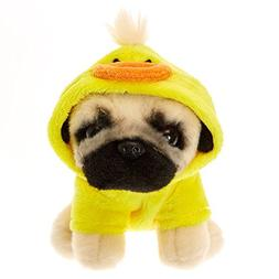 Claire's Girl's Doug the Pug Duckie Small Plush Toy