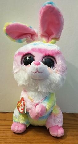 New! Easter 2018 Ty Beanie Boos LOLLIPOP Tie Dyed Bunny Medi