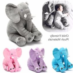 Elephant Pillow Soft Plush Stuff Toys Lumbar Doll Cushion Ba