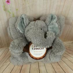 Elephant Plush Toy and Throw Blanket 2 Piece Gift Set 40 X 5