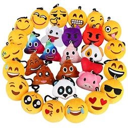 Dreampark Emoji Keychain, Emoji Key Chain Mini Plush Pillows
