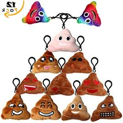 Emoji Keychain Poop Plush Toy Mini Kids' Pillow Set, Emotico